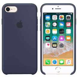 Apple iPhone 8/7 Silicone Back Case Cover (MQGM2ZM/A, Midnight Blue)_1