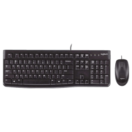 Logitech MK120 Wired Keyboard & Mouse Combo (Black)_1