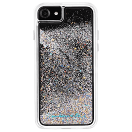 Case-Mate Waterfall Iridescent Diamond Back Case Cover for Apple iPhone 8 (CM036096, Transparent)_1