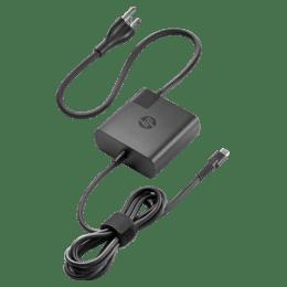 HP 65 Watt USB-C Power Adapter with Cable (F3B94AA, Black)_1