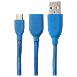 Boompods Retro 100 cm USB (Type-A) to USB (Type-C) Cable (BP-RC-C-BLU, Blue)_1