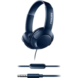 Philips Bass+ Headphones with Mic (SHL3075, Blue)_1