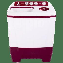 Onida 7.5 kg Semi Automatic Top Loading Washing Machine (WO75SBX1LR, Red)_1