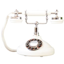 GPO Opal Corded Vintage Telephone (GPO-OLVT-IVR, White)_1