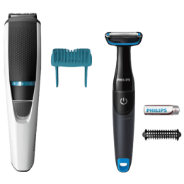 Philips Trimmer and Body Grooming Combo Pack (BT3203/85 and BG1024, Black)_1
