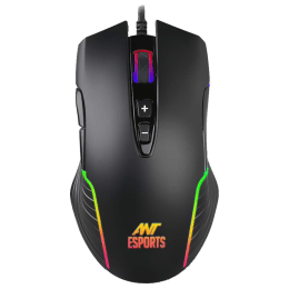 Ant E sports 4000 DPI Wired Gaming Mouse (GM500RGB, Black)_1