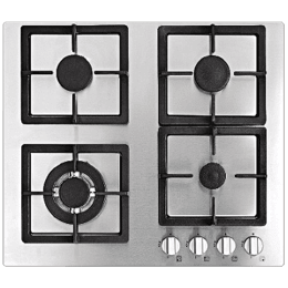 Whirlpool AKC 641 4 Burner Stainless Steel Gas Stove (Cast Iron Grid, 62050, Silver)_1