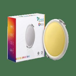 Syska 15 W Smart LED Light (SSK-RDL-SMW-R-15W-O-3000K, Yellow)_1