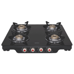 Elica Patio ICT DT 460 4 Burners Gas Stove (With Auto Ignition, Black)_1