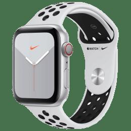 Apple Watch Series 5 (GPS + Cellular, 44 mm) Silver Aluminium Case with Pure Platinum/Black Nike Sport Band (MX3E2HN/A)_1