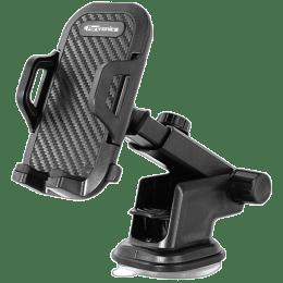 Portronics Gel-Pad Suction Cup Clamp Car Mobile Holder (POR-116, Black)_1