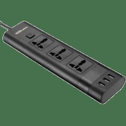 Portronics Power Plate II USB Power and Surge Protector (POR-671, Black)_1