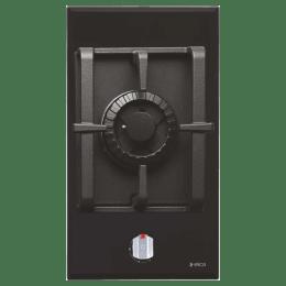 Elica 1 Burner Glass Built-in Gas Hob (Round Cast-Iron Grids, Pro MFC 1B 30 FFD, Black)_1