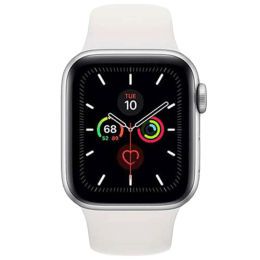 Apple Watch Series 5 (GPS, 40 mm) Silver Aluminium Case with White Sport Band (MWV62HN/A)_1