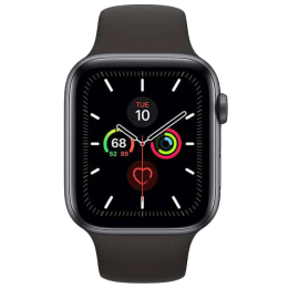 Apple Watch Series 5 (GPS, 44 mm) Space Grey Aluminium Case with Black Sport Band (MWVF2HN/A)_1