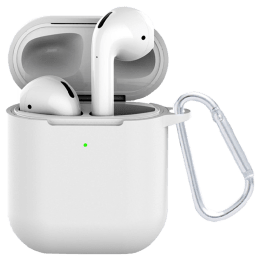 Croma Full Cover Case for Apple AirPods (CRCA0082, White)_1