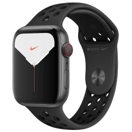 Apple Watch Series 5 (GPS + Cellular, 44 mm) Space Grey Aluminium Case with Anthracite/Black Nike Sport Band (MX3F2HN/A)_1