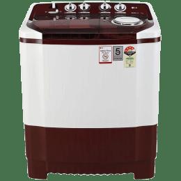 LG 7 kg Semi-Automatic Top Loading Washing Machine (ABGQEIL, Burgundy)_1