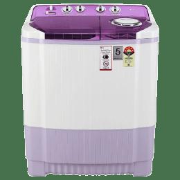 LG 7.5 Kg 5 Star Semi-Automatic Top Loading Washing Machine (AMVQEIL, Lavender Pond)_1