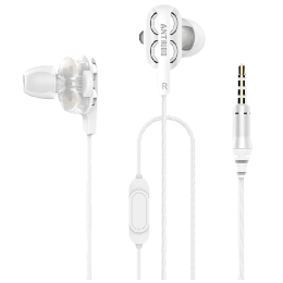 Ant Audio In-Ear Wired Earphones with Mic (Doble W2, White)_1