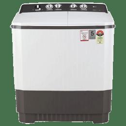 LG 9 kg Semi-Automatic Top Loading Washing Machine (P9040RGAZ, Dark Grey)_1