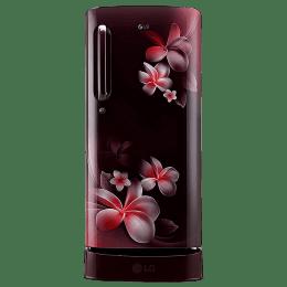 LG 190 L 4 Star Direct Cool Inverter Single Door Refrigerator (GL-D201ASPY.ASPZEB, Scarlet Plumeria)_1