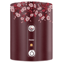 Haier 25 Litres 5 Star Storage Water Geyser (2000 Watts, ES25V, Floral Red)_1