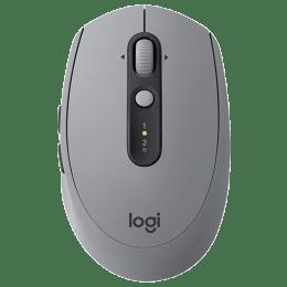 Logitech Silent 1000 DPI Bluetooth Wireless Mouse (M590, Mid Grey Tonal)_1