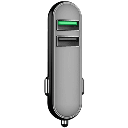 Portronics Car Power Q 2.4 Amp Car Charging Adapter (POR 005, Black)_1