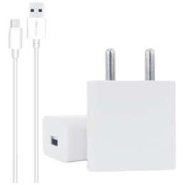 Portronics Adapto 2 Amp Single USB Adapter with Cable (por 442, White)_1