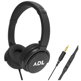 ADL Escape Over-Ear Wired Headphones with Mic (S-28, Black)_1