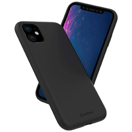 Stuffcool Silo Silicone Soft and Smooth Back Case Cover for Apple iPhone 11 (SILOIP1158, Black)_1