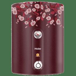 Haier 15 Litres 5 Star Storage Water Geyser (2000 Watts, ES15V, Floral Red)_1