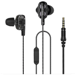 Ant Audio In-Ear Wired Earphones with Mic (Doble W2, Black)_1