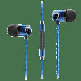 Soundmagic In-Ear Wired Earphones with Mic (E10C, Blue)_1
