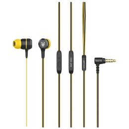 Ant Audio In-Ear Wired Earphones with Mic (Wave 702, Yellow/Black)_1