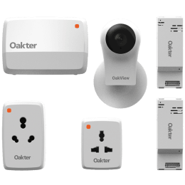 Oakter Smart Home Device and Intelli Cami Kit (White)_1