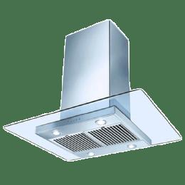 Faber Glassy Isola Sunzi 1000 m³/hr 90cm Ceiling Chimney (Baffle Filter, LTW 90, Stainless Steel)_1