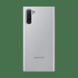 Samsung Galaxy Note 10 Clear View Flip Case Cover (EF-ZN970CSEGIN, Silver)_1