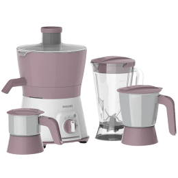 Philips Viva Collection 600 Watts Juicer (Turbo Power Motor, HL7581/00, White/Lilac)_1