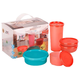 Philips Container Set (HomeCraft Set of 5, Red)_1