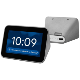 Lenovo Smart Clock with Google Assistant (CD 24501F, Grey)_1