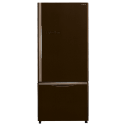 Hitachi 525 Litres 3 Star Frost Free Double Door Refrigerator (Bottom Mount, LED Light, R-B570PND7(GGR), Glass Brown)_1