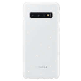 Samsung Galaxy S10 LED Back Case Cover (EF-KG973CWEGIN, White)_1