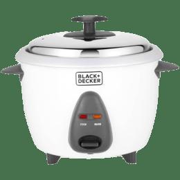 Black & Decker 1 Litre 400 Watt Electric Rice Cooker (BXRC0101IN, White)_1