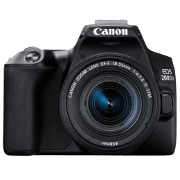 Canon 24.1 MP DSLR Camera Body with 18 - 55 mm & 55 - 250 mm Lens (EOS 200D II, Black)_1