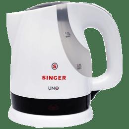 Singer Uno 1 Litre 1200 Watts Electric Kettle (Detachable Base, Auto Switch Off, SKT 100 UBI, White)_1