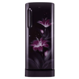 LG 235 Litres 4 Star Direct Cool Inverter Single Door Refrigerator (Anti-bacterial Gasket, GL-D241APGY, Purple Glow)_1
