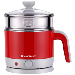 Wonderchef Luxe Multicook 1.2 Litres 1000 Watts Electric Kettle (Detachable Base, Power On and Ready Indicator, 63152931, Red)_1