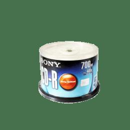 Sony 700 MB 48x 50Pk Capacity CD Recordable (Silver Shine)_1